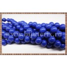 Margele - sticla acrilica 8mm - albastru inchis (10buc)