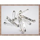 Ace de brosa 3,5cm (10buc) - argintiu