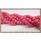 Margele - sticla acrilica 6mm - roz - somon (10buc)
