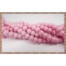 Margele - sticla acrilica 6mm - roz pal (10buc)