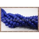 Margele - sticla acrilica 6mm - albastru inchis (10buc)