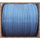 Snur imit. piele intoarsa 3x1,5mm - albastru deschis -1m