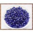 Margele nisip 4mm - albastru inchis transparent (50gr)