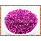 Margele nisip 2mm - fucsia transparent cu foita metalica (100gr)