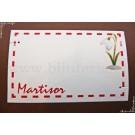 Carton martisor Martie 9x5,5cm pentru bratari - model 17 (50buc)