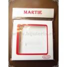 Cutie carton martisor Martie cu fereastra 7,5x7,5x0,5cm - 10buc+punga cadou