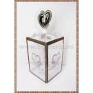 Cutie acetofan - filigran maro cu inimioare 11x4cm