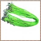 Snur colier imit. piele intoarsa - verde electric- 1buc