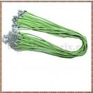Snur colier imit. piele intoarsa - verde deschis - 1buc