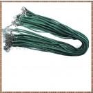 Snur colier imit. piele intoarsa - verde smarald- 1buc