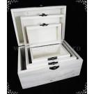 Cutii lemn - set 3bucati CL 01