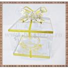 Cutie acetofan - filigran auriu cu fundita 7x5,5cm