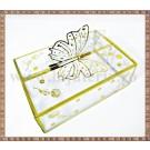 Cutie acetofan - filigran auriu cu fluturas 13x9x4cm