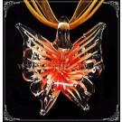 Pandantiv Fluture sticla - portocaliu