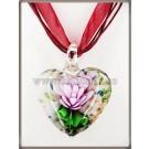Pandantiv Murano Hearts & flowers - roz