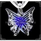 Pandantiv Fluture sticla - albastru