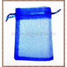 Saculet organza 11x8,5cm albastru