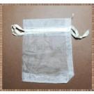 Saculet organza 8,5x7cm alb