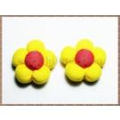 Floricele pufoase din panza - Model 2 - 2buc