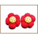Floricele pufoase din panza - Model 3 - 2buc