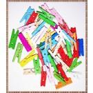 Carlige din lemn colorat - 2,5cm (10buc+2 cadou)