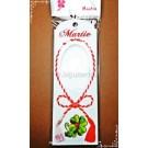 Set Cutie carton martisor Martie Snur cu fereastra 14x5x0,5cm + Punga celofan Martie - 10buc