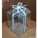 Cutie acetofan - dunga alba cu fundita 5x5x6,5cm