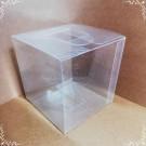 Cutie acetofan - simpla transparenta 8x8x8cm